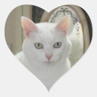 La princesa bonita real del gato pegatina corazon