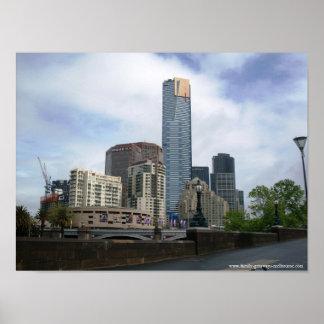 La princesa Bridge Australia de Melbourne Poster