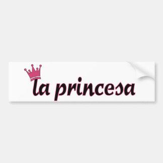 la princesa car bumper sticker