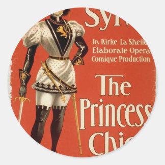 "La princesa Chic, ""selva"" Theate retro de Margueri Etiquetas"