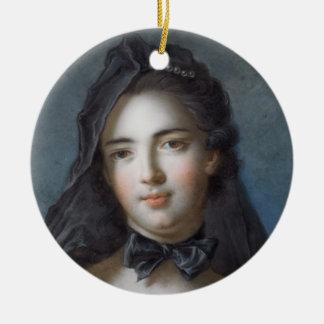 La princesa de Beauveau, Sophie nee Charlotte de Adorno Navideño Redondo De Cerámica