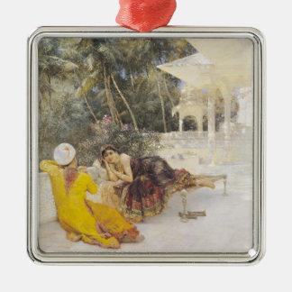 La princesa de Bengala, c.1889 Adorno Navideño Cuadrado De Metal