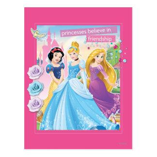La princesa de Disney el | cree en amistad Postales