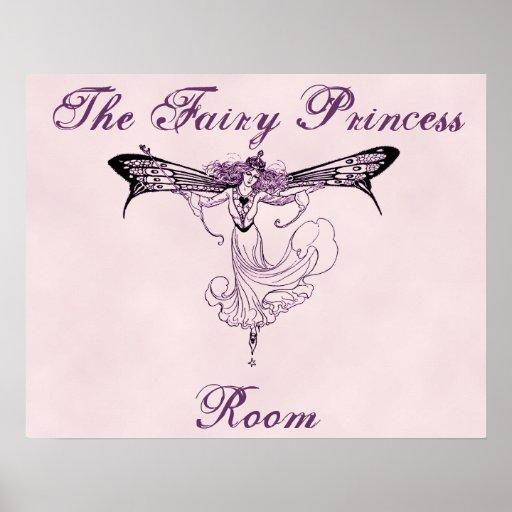 La princesa de hadas Room Poster Print