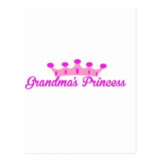 La princesa de la abuela tarjetas postales