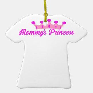 La princesa de la mamá adorno de cerámica en forma de playera