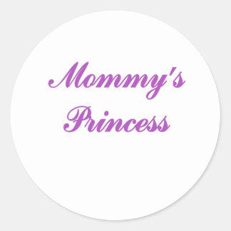 La princesa de la mamá etiquetas redondas