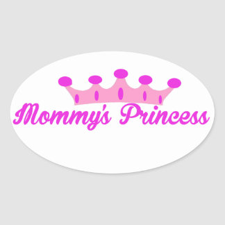 La princesa de la mamá calcomania de oval