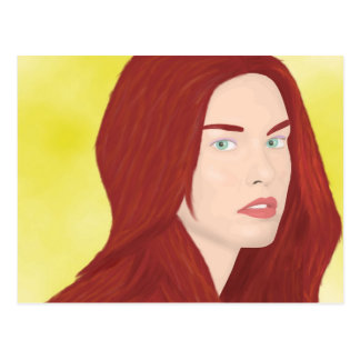 La princesa del hielo - pelo rojo, ojos verdes postales