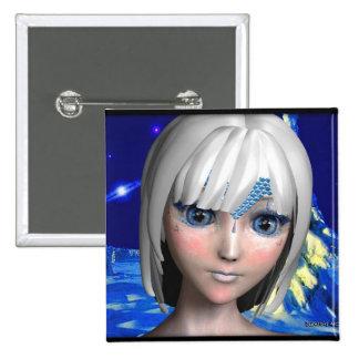 La princesa del hielo pin cuadrada 5 cm