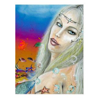 La princesa del océano crea para requisitos tarjetas postales
