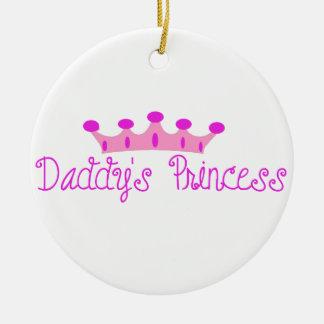 La princesa del papá adorno navideño redondo de cerámica