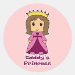La princesa del papá pegatina redonda