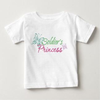 La princesa del soldado playera para bebé