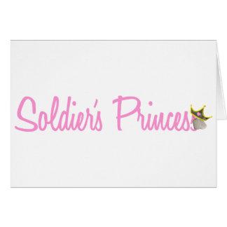 La princesa del soldado tarjeta de felicitación