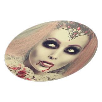 La princesa del vampiro plato para fiesta