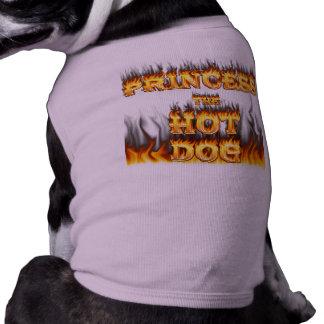 La princesa el fuego y las llamas del perrito cali playera sin mangas para perro