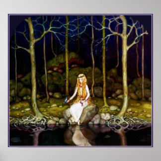 La princesa en el bosque póster