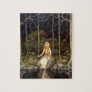 La princesa en el bosque puzzles con fotos