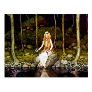 La princesa en el bosque postal
