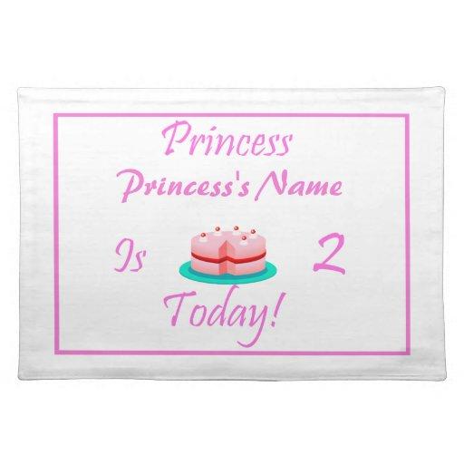 La princesa es 2 hoy manteles individuales