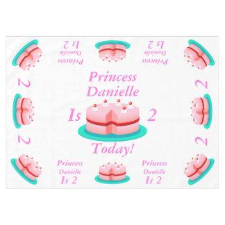 La princesa es adaptable hoy mantel de tela