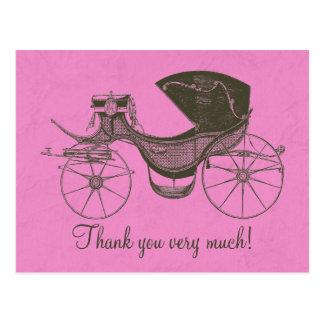 La princesa fiesta de bienvenida al bebé le tarjeta postal