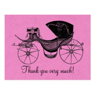 La princesa fiesta de bienvenida al bebé le tarjetas postales