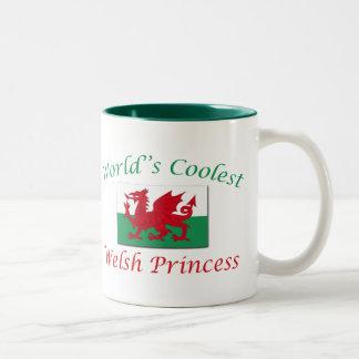 La princesa más fresca Galés Taza De Café De Dos Colores