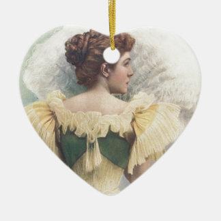 La princesa Of The Asturias Adorno Navideño De Cerámica En Forma De Corazón