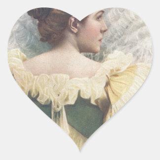 La princesa Of The Asturias Pegatina En Forma De Corazón