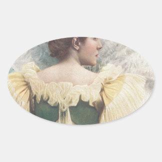 La princesa Of The Asturias Pegatina Ovalada