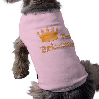 La princesa Pet Clothing Playera Sin Mangas Para Perro