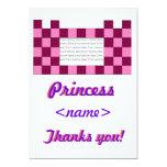 La princesa Pink/fiesta de cumpleaños rosada del Invitación 12,7 X 17,8 Cm