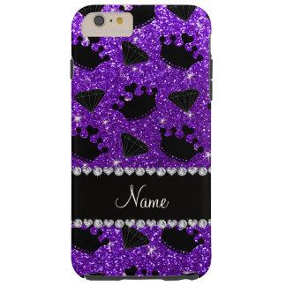 La princesa púrpura del brillo del añil conocido funda resistente iPhone 6 plus
