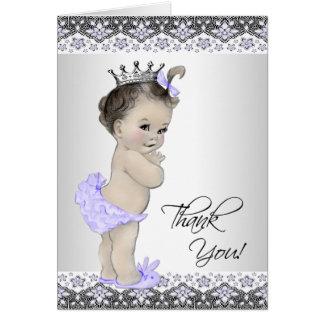 La princesa púrpura fiesta de bienvenida al bebé tarjeta pequeña