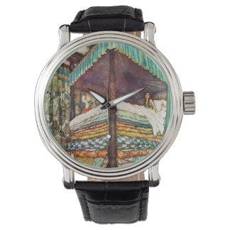 La princesa real cuento de hadas en color vibrante relojes de pulsera