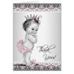 La princesa rosada fiesta de bienvenida al bebé de felicitación
