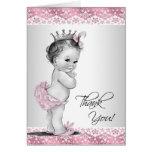 La princesa rosada fiesta de bienvenida al bebé de tarjeta