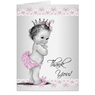 La princesa rosada fiesta de bienvenida al bebé tarjeta pequeña