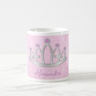 La princesa rosada personalizada Mug del niño Tazas