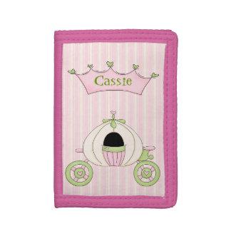 La princesa rosada Wallet del chica