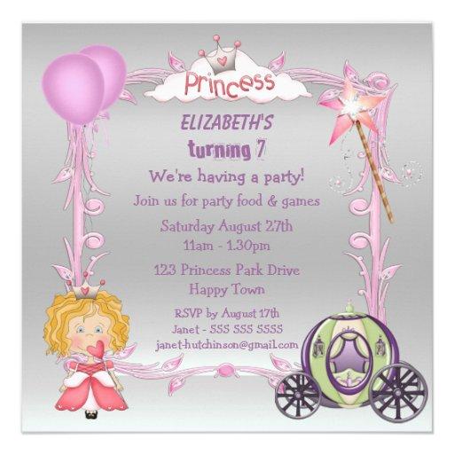 La princesa rosada y la plata púrpura del carro in comunicado