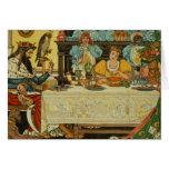 La princesa Shares su cena con la rana, de Tarjetas