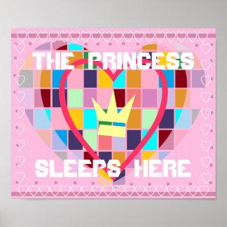 LA PRINCESA SLEEPS HERE ROOM POSTER