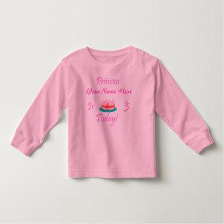 La princesa (su nombre) es 3 hoy tshirt