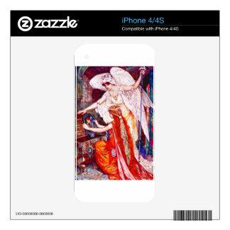 La princesa y el ángel de Templar Skins Para iPhone 4