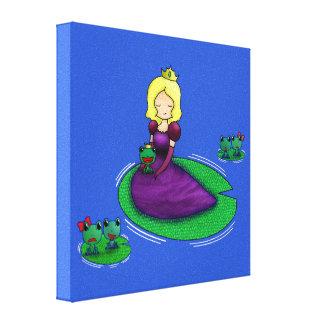 ¿La princesa y la datación de la rana? Impresión En Lienzo Estirada