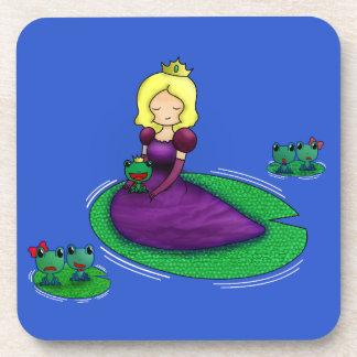 ¿La princesa y la datación de la rana? Posavaso