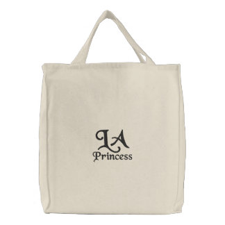 LA Princess Embroidered Tote Bags
